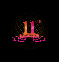 Logo 11th anniversary logo with a circle and vector