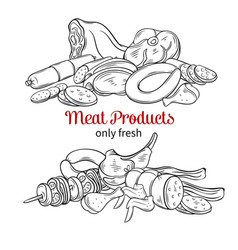 Meat product vector