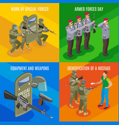 military special forces isometric concept vector image