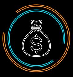 money bag icon - dollar sign vector image