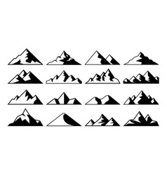 mountain peak icon tibet mountains berg hills vector image