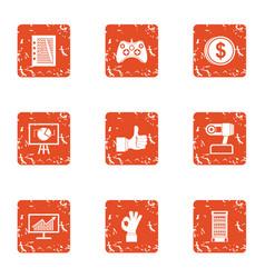 payday icons set grunge style vector image