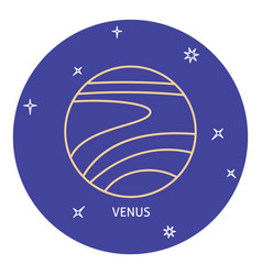 Planet venus icon in thin line style vector