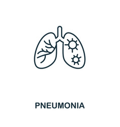 Pneumonia icon simple from coronavirus collection vector