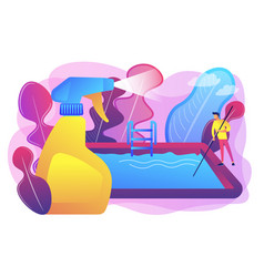 pool and outdoor cleaning concept vector image