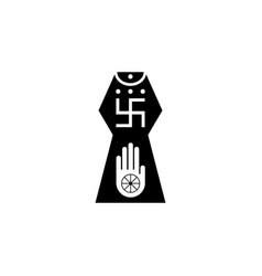 Religion symbol jainism icon element religion vector