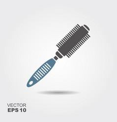 round hair styling brush professional hairdresser vector image
