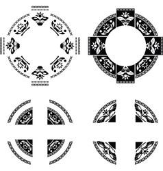 Set fantasy rings vector