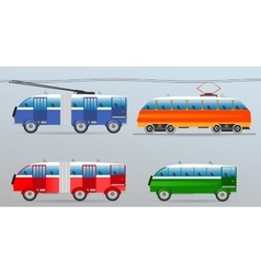 Set of vintage vehicles vector