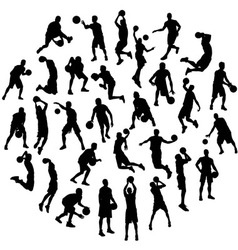 Silhouettes Sport Activities Basketball vector image