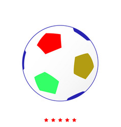 Soccer ball it is icon vector