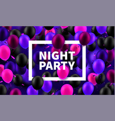 stock night party realistic vector image