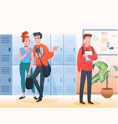 stop bullying concept sad unhappy school boy vector image
