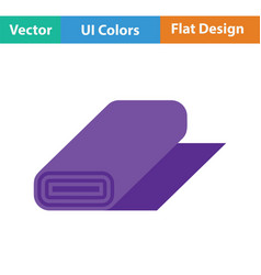 tailor cloth roll icon vector image