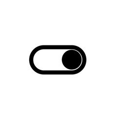 toggle switch icon on and off position simple vector image