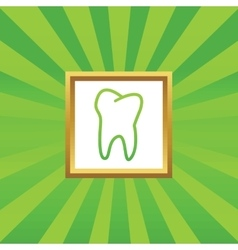 Tooth picture icon vector