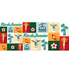 Travel and tourism icons Rio De Janeiro vector