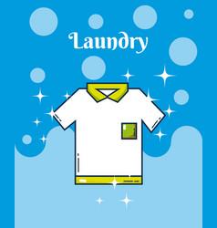 Tshirt laundry concept vector
