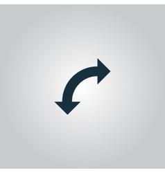 Turn arrow icon vector