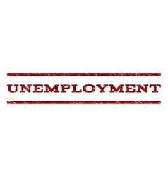 Unemployment Watermark Stamp vector