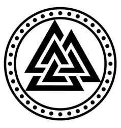 Valknut ancient pagan nordic germanic symbol vector