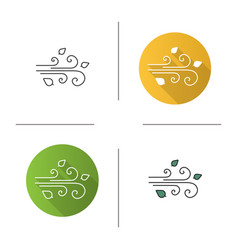 Wind blowing icon vector