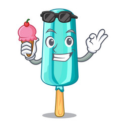 with ice cream ice cream thee character shaped vector image