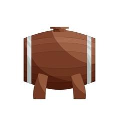 Wooden barrel on a legs icon cartoon style vector