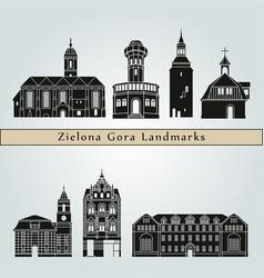 zielona gora landmarks vector image