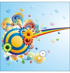 Creative funky background vector image