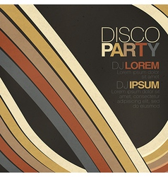 disco party retro styled flyer vector image