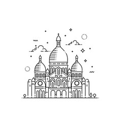 minimalistic line-art landmark icon of the sacre vector image