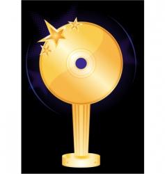 music award vector image vector image