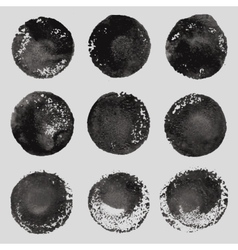 Hand drawn paint stains grunge set vector