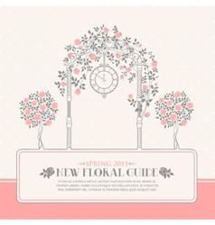 Roses garden vector image