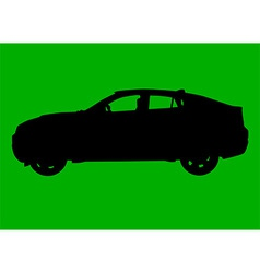 Sport utility vehicle silhouette vector image
