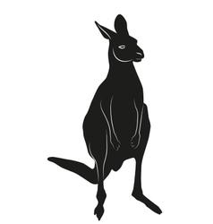 Decorative ornamental kangaroo silhouette vector image vector image