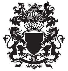 heraldic silhouette No30 vector image vector image