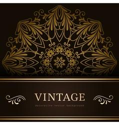 Vintage gold backround vector image
