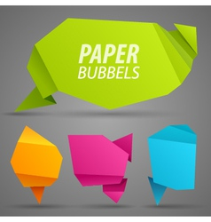 Abstract paper bubbles for speech vector image