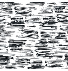 ink hand drawn seamless pattern with brush strokes vector image vector image