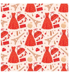 seamless fashion pattern vector image