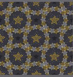 Stars doodle seamless pattern childish fashion vector