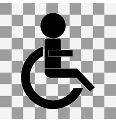 Wheelchair Handicap Icon on a transparent vector image