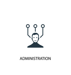 administration icon simple element vector image