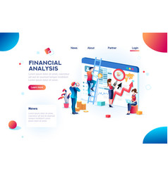 analytics concept finance infographic vector image