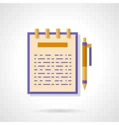 Articles creating flat color icon vector