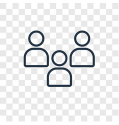 Audience concept linear icon isolated on vector