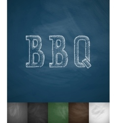 BBQ icon Hand drawn vector image