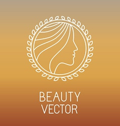 Beauty and spa line logo vector